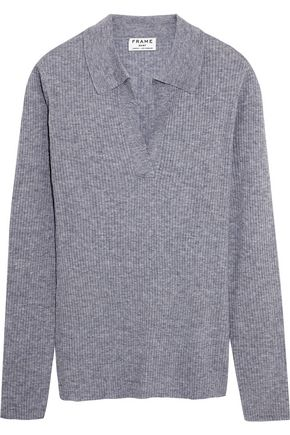 FRAME Ribbed wool-blend sweater