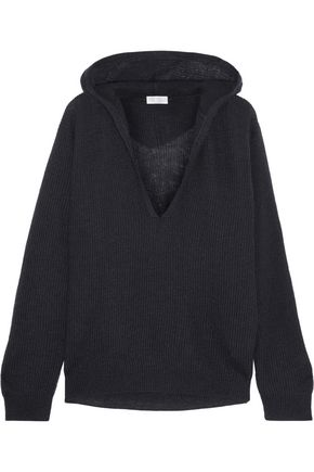 BRUNELLO CUCINELLI Hooded ribbed-knit sweater