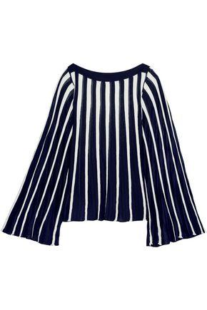 CHLOÉ Pleated stretch-knit top