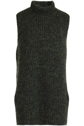 T by ALEXANDER WANG Marled-knit cotton-blend sweater