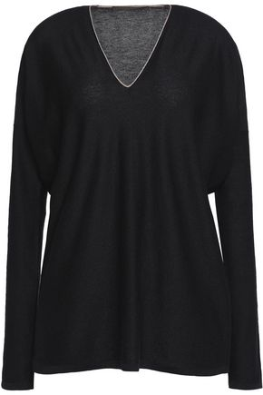 AGNONA Piped cashmere sweater
