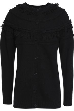 AGNONA Fringed wool and cashmere-blend cardigan