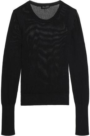 BELSTAFF Hemsworth open-knit cotton top
