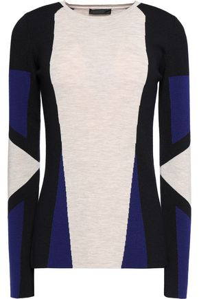 BELSTAFF Whitemore color-block wool sweater