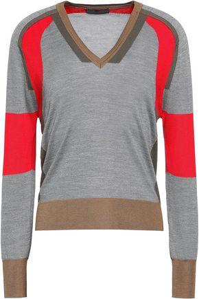 BELSTAFF Holmes color-block ribbed silk sweater