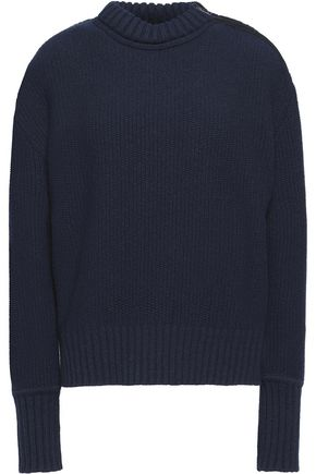 BELSTAFF Raine fleece-trimmed wool and cashmere-blend sweater