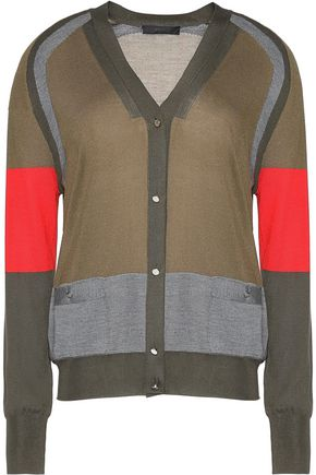 BELSTAFF Dale color-block silk cardigan