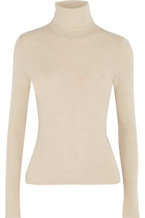 ALICE + OLIVIA Roberta ribbed wool turtleneck sweater