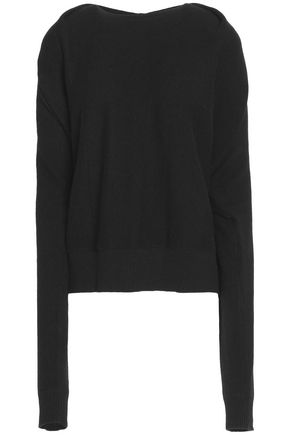 DUFFY Draped marled cashmere sweater
