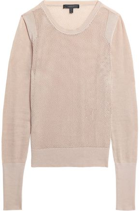 BELSTAFF Hemsworth open-knit cotton top