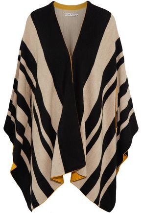 ALICE + OLIVIA Minka oversized striped wool poncho