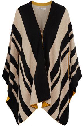 ALICE + OLIVIA Minka oversized striped wool poncho