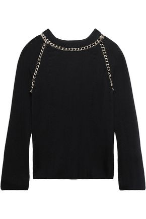 BOUTIQUE MOSCHINO Ruffled wool turtleneck sweater
