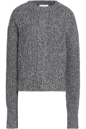CARVEN Cable-knit wool-blend sweater