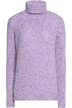CARVEN Mélange-knit turtleneck sweater