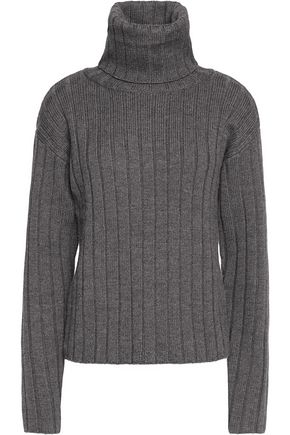 DKNY Turtleneck ribbed wool sweater