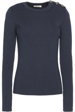 NINA RICCI Embellished ribbed wool sweater