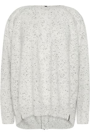 DUFFY Zipped marled cashmere sweater