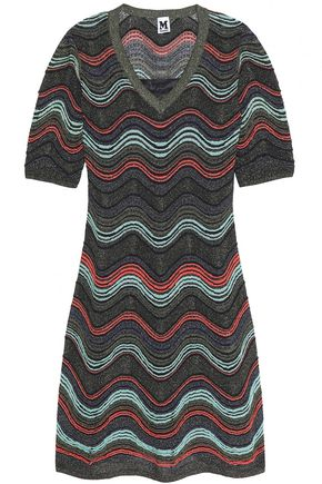 M MISSONI Metallic crochet-knit midi dress