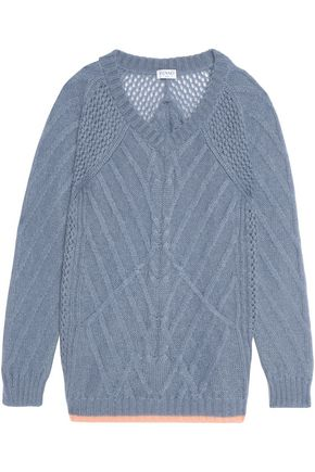 VIONNET Mohair-blend cable-knit sweater