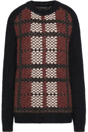 BELSTAFF Bradford plaid wool, cashmere and mohair-blend sweater