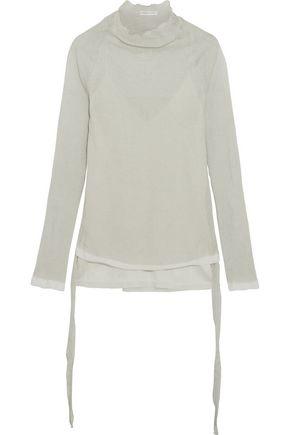 BARBARA CASASOLA Ribbed silk-blend top
