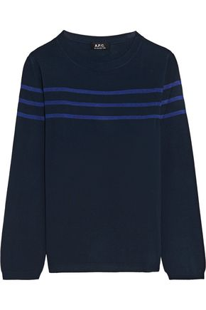 A.P.C. Striped knitted top