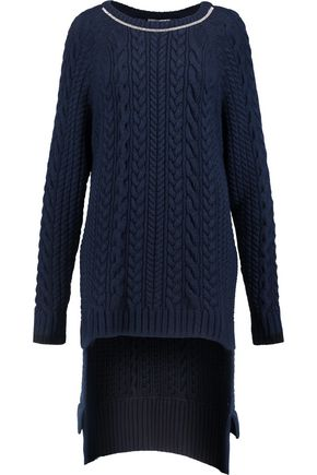 PREEN by THORNTON BREGAZZI Aleah embellished cable-knit sweater