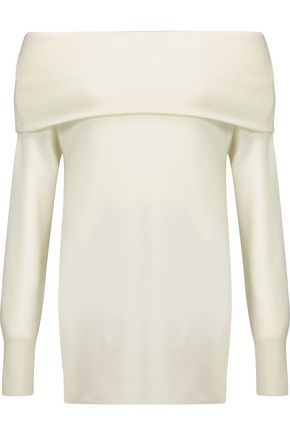 MADELEINE THOMPSON Turtleneck ribbed cashmere and wool-blend sweater