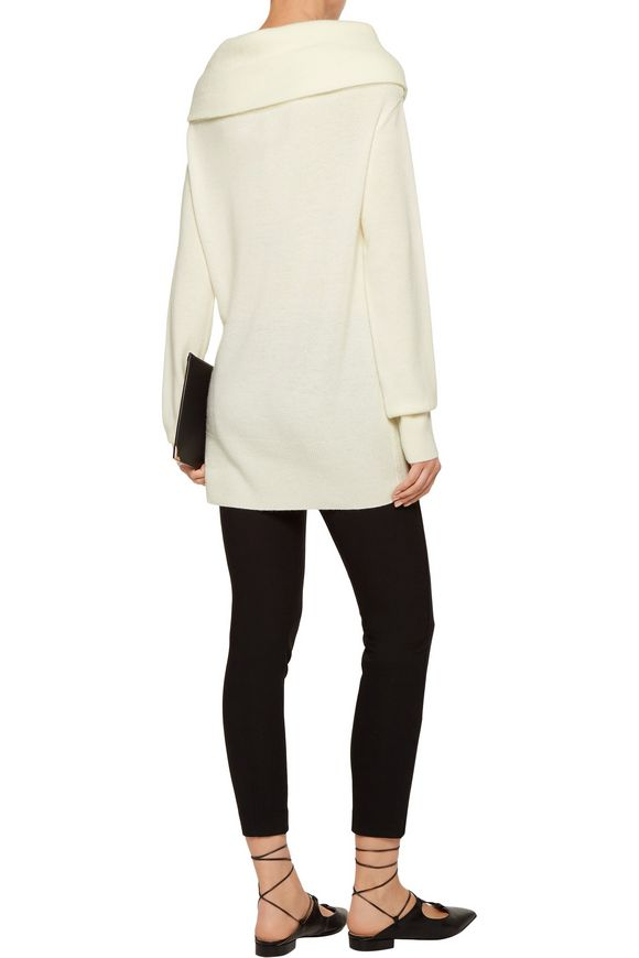 Draped cashmere and wool-blend sweater | MADELEINE THOMPSON | Sale up to 70%  off | THE OUTNET