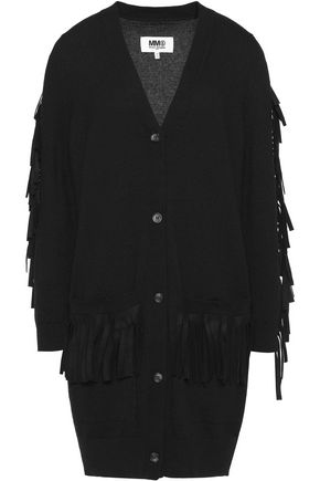 MM6 MAISON MARGIELA Fringed knitted cardigan