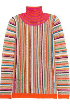 MISSONI Crochet-knit turtleneck top