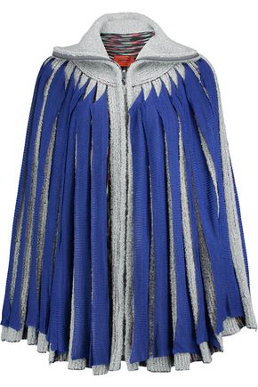 MISSONI Layered stretch-knit poncho