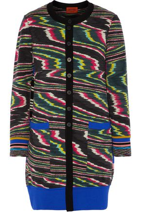MISSONI Printed wool-blend cardigan