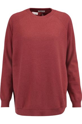 BRUNELLO CUCINELLI Layered cashmere and stretch-silk top
