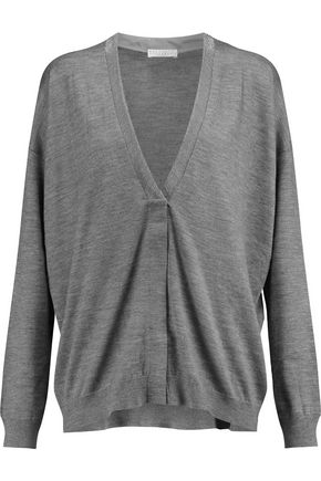 BRUNELLO CUCINELLI Chain-trimmed cashmere and silk-blend cardigan
