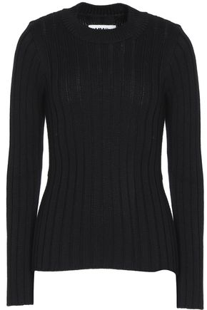MM6 MAISON MARGIELA Cutout ribbed wool-blend sweater