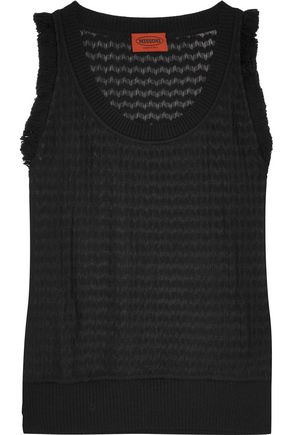 MISSONI Tasseled crochet-knit tank