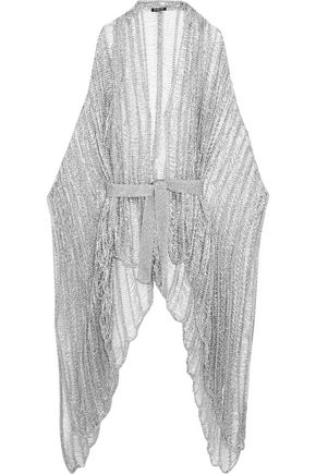 BALMAIN Metallic open-knit cardigan