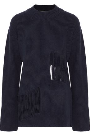 STELLA McCARTNEY Fringed cashmere and wool-blend sweater