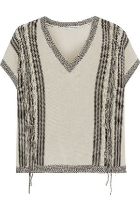 AUTUMN CASHMERE Fringed cotton sweater
