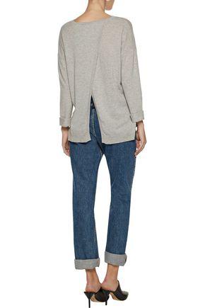 ... AUTUMN CASHMERE Open-back cashmere sweater