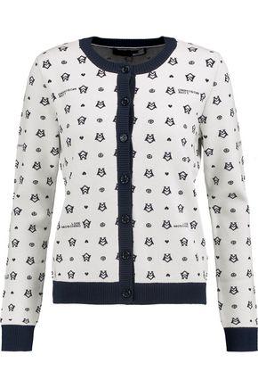 LOVE MOSCHINO Jacquard-knit cardigan