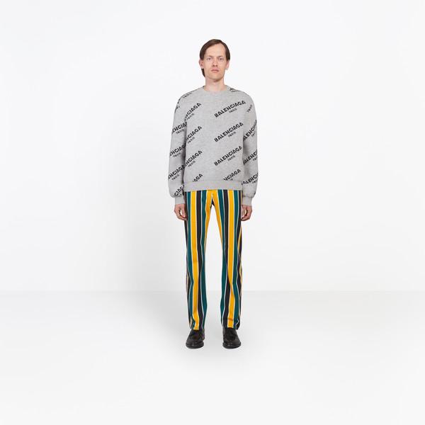BALENCIAGA Knitwear Man Jacquard Logo Crewneck g
