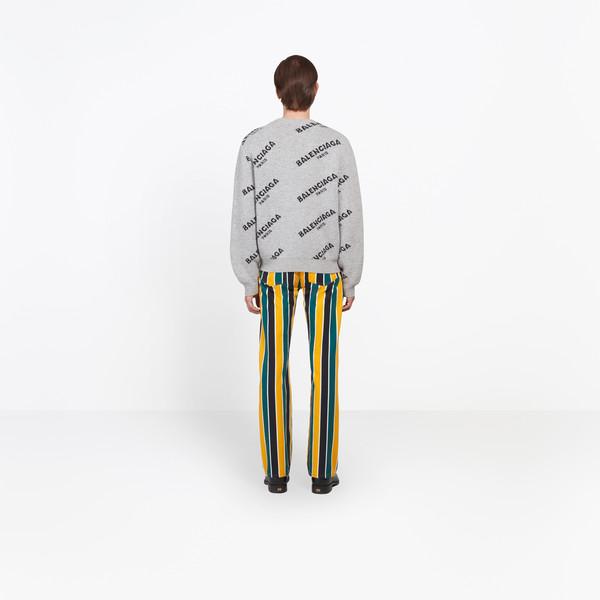 BALENCIAGA Knitwear Man Jacquard Logo Crewneck h