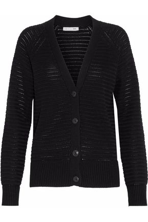 RAG & BONE/JEAN Ribbed open-knit cardigan