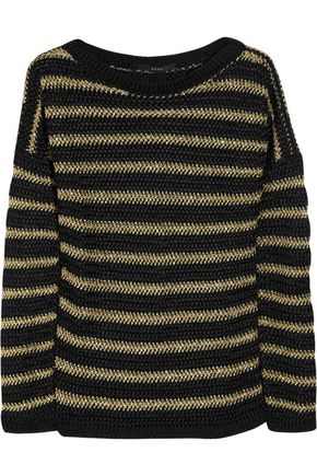 GUCCI Metallic striped open-knit sweater