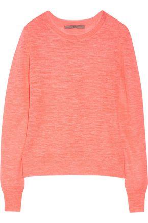 HALSTON HERITAGE Neon linen-blend sweater