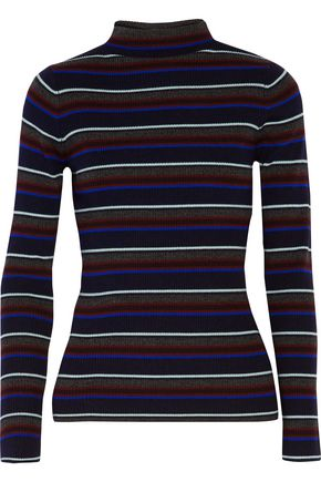 T by ALEXANDER WANG Striped merino wool turtleneck sweater