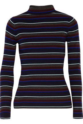 T by ALEXANDER WANG Striped merino wool turtleneck sweater